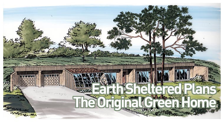 Earth sheltered home plans for Earthen home designs